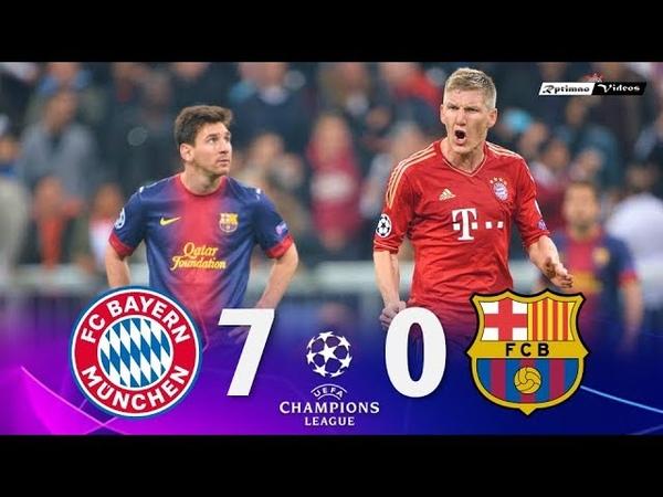 Bayern Munich 7 x 0 Barcelona ● UCL 12/13 Extended Goals Highlights HD