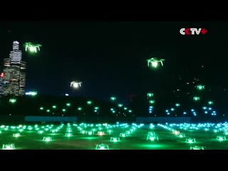 Southwest china puts on dazzling drone show