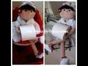 Boneca porta papel higiênico bracinho e suporte para ela ficar sentada