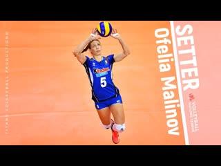 Ofelia Malinov - Amazing Volleyball SETTER SETS SPIKES BLOCKS Womens VNL 2019