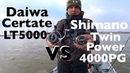 Daiwa Certate LT5000D VS Shimano 15 Twin Power 4000PG зачетный судак в конце видео!!