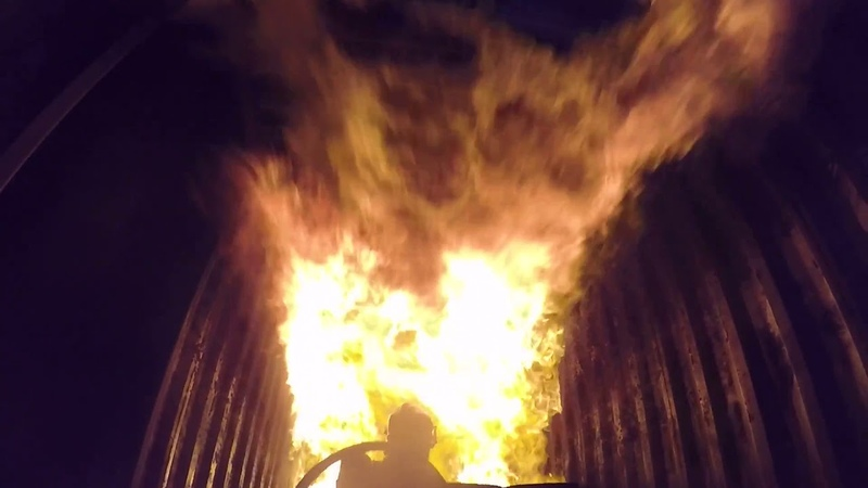 Brannslukking på STCW kurs