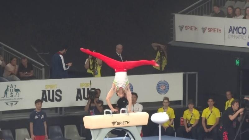 Kohei Kameyama JPN PH Final 2020 World Cup Gymnastics Melbourne Australia