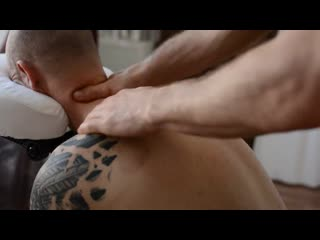 Asmr chair massage back neck, no talking cupping therapy, gua sha pt 1