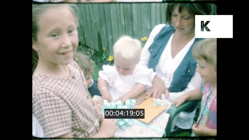 1990s UK Family Barbecue, Home Movies, from 16mm