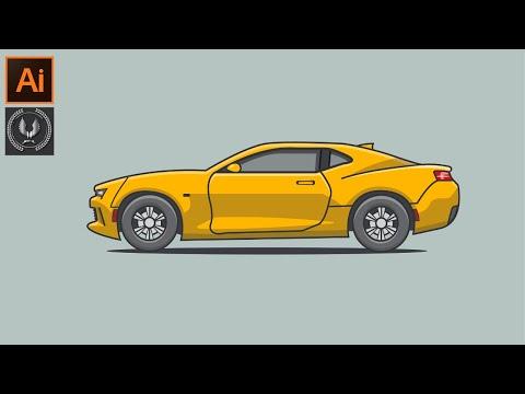 Adobe Illustrator CC Tutorial Flat Design | A Car Illustration