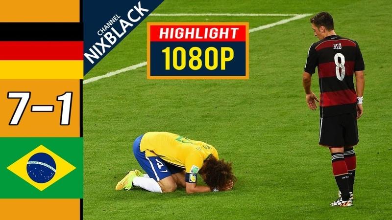 Germany 7-1 Brazil 2014 W.C Semi Final All goals Highlights FHD/1080P