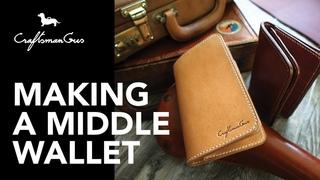 Making Leather Wallet : Middle Biker Wallet #LeatherAddict EP22