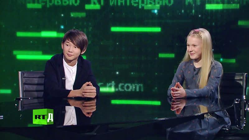 Интерью о подготовке Денберела и Татьяны к Детскому Евровидению (RT|Д, 11-07-2019)