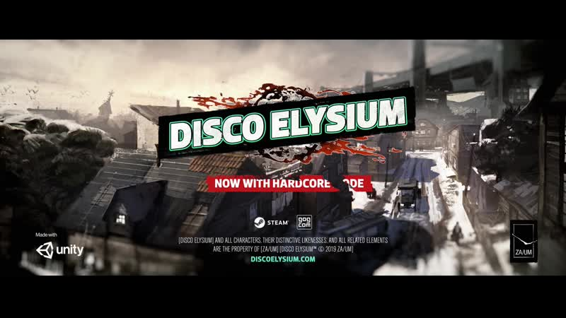 DISCO ELYSIUM Hardcore mode U l t r a w i d e Official