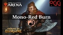 MTG: Arena Deck Tech - Mono Red Burn [ELD Standard]