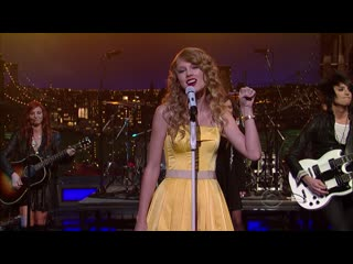 Taylor swift speak now. late show with david letterman 2010