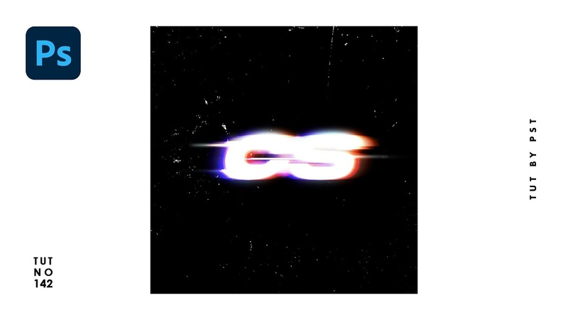 How to Create Glow Glitch Text Effect - Photoshop Tutorials