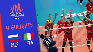 RUSSIA vs. ITALY - Game Highlights Men | Week 2 | Volleyball Nations League 2019