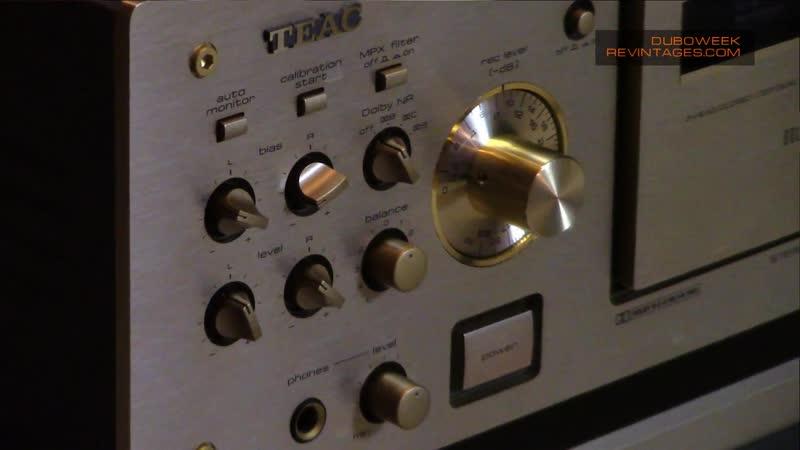 TEAC Cassette Deck Short Demo