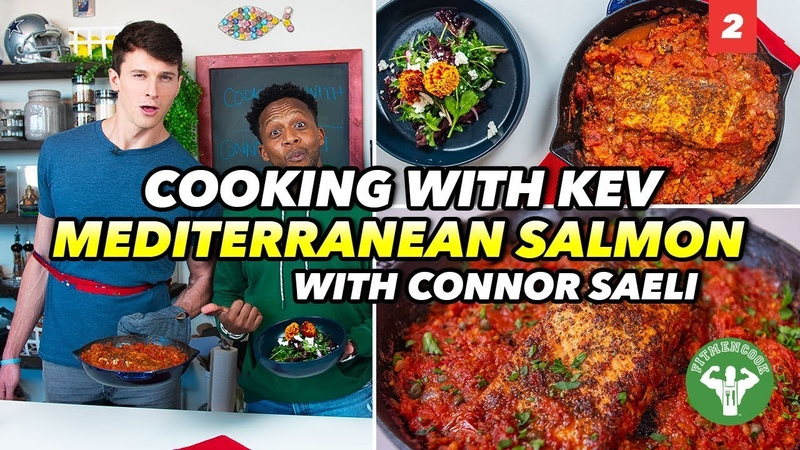 Cooking with Kev Ep 2 Bachelor Meal Mediterranean Salmon with Connor Saeli