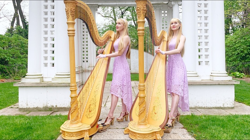 IN THE GARDEN (harps and vocals) - Harp Twins, Camille and Kennerly