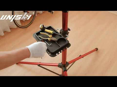 Unisky Foldable Mountain Bike Repair Rack Stand Adjustable Bicycle Maintenance Rack Workstand