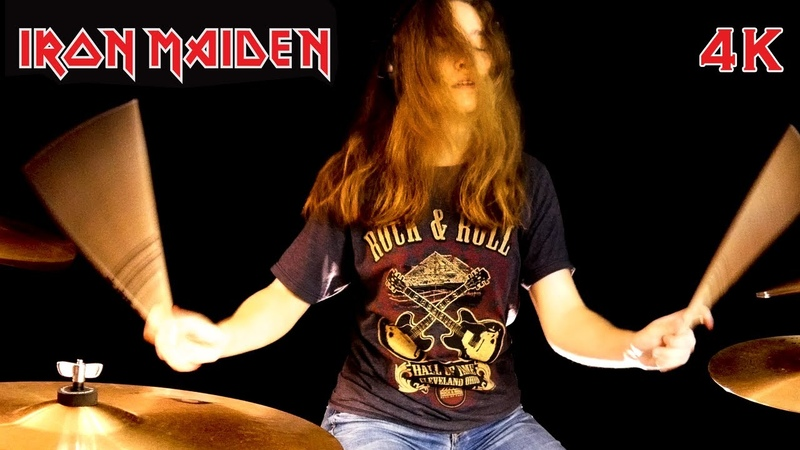 Hallowed Be Thy Name Iron Maiden drum cover by Sina