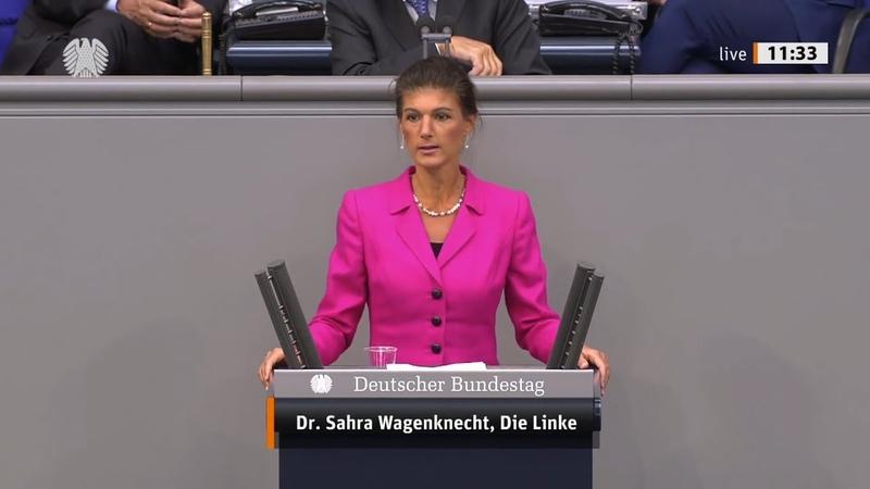 Сара Вагенкнехт Партия Меркель по христиански относится только к олигархам Голос Германии
