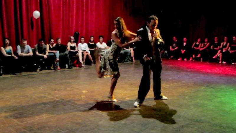Juan Cantone and Sol Orozco at Cellspace Malerba Gitana Rusa 11 28 2012