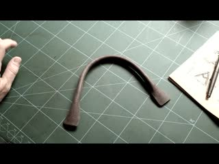 Making a tubular leather handle _ leather craft tutorials