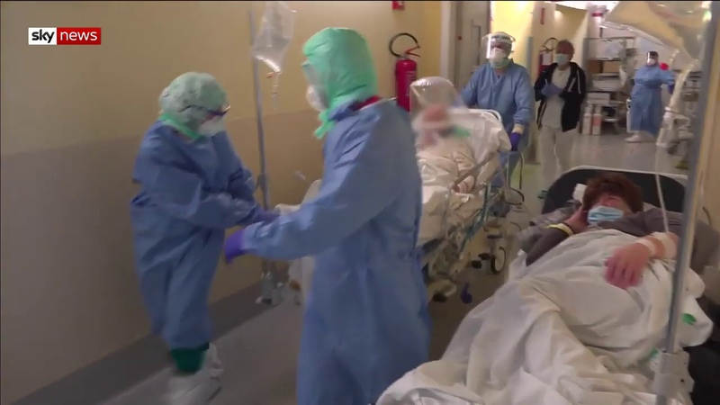 Свежее из больницы в Бергамо Италия русский язык субтитры Лечение людей с коронавирусом Covid19