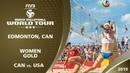 Women's Gold Medal CAN vs USA 3* Edmonton CAN 2019 FIVB Beach Volleyball World Tour