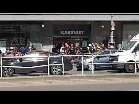 Raubüberfall in Berlin Neukölln SEK jagt vier Männer in Karstadt Täter versprühten Reizgas