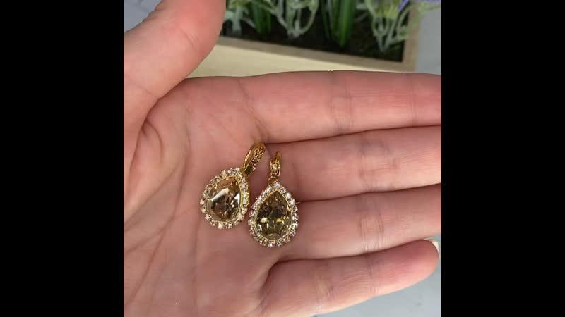 Шикарные серьги Bianka с кристаллами Swarovski