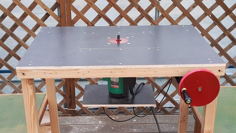 자작 라우터 테이블 리프트 make a router table lift (makita m363/mt362g/m3600m)
