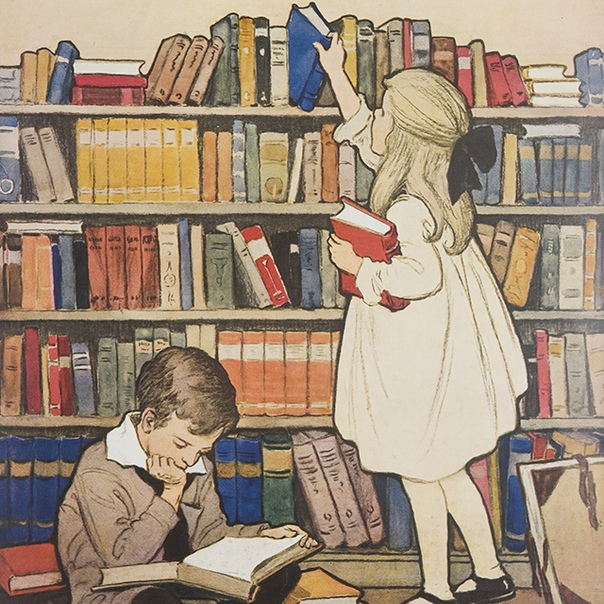 Библиотека книга чтение картинки