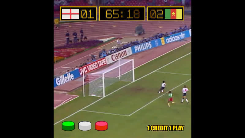 🏴󠁧󠁢󠁥󠁮󠁧󠁿 🎮 🇨🇲⁣ 🟢⚪️🔴 Three buttons and 3D memories 🕹️Thrilling and full of emotions!⁣ England and Cameroon put on