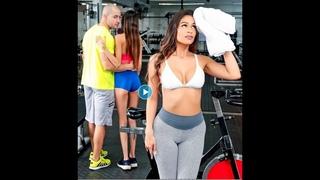 Порно ютуб 365 Грудастая латиночка крутит перед парнем хвостом в спортзале