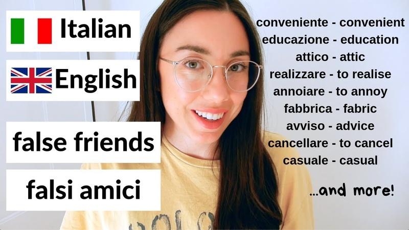 20 esempi di falsi amici tra italiano e inglese