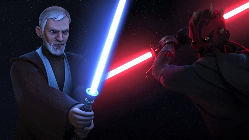 Star Wars Rebels with Thick Lightsabers   Obi-Wan vs Maul