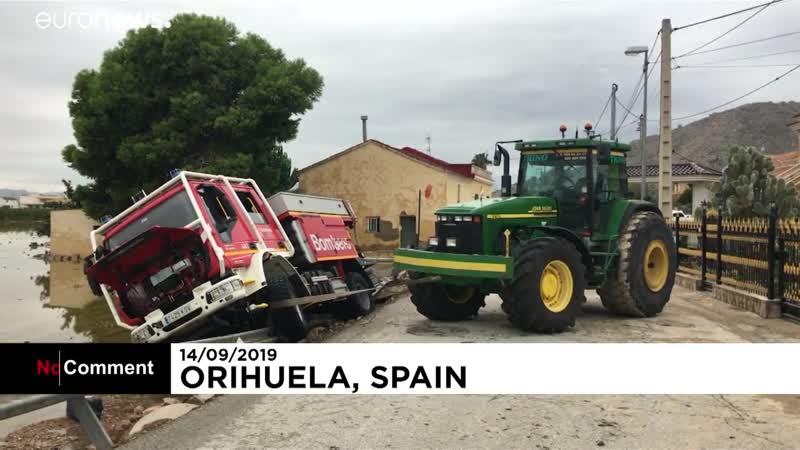 Последствия наводнений в Испании