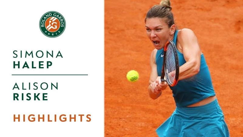 Simona Halep vs Alison Riske Round 1 Highlights I Roland Garros 2018
