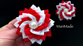 Резиночки Вертушки Канзаши Видео МК Kanzashi Hair Bows Tutorials Laço