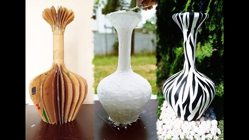 How to make vase DIY vase using cardboard
