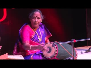 Dumru Percussion Festival - PLAYING FOR 60 YEARS - She is Indias First Lady Mridangam Artiste