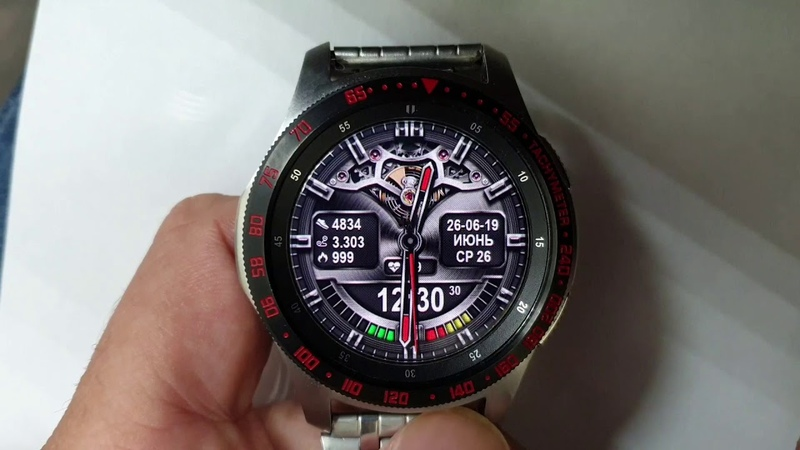 STEEL SATO WW16 Animated watchface for Samsung Gear Samsung Galaxy watch