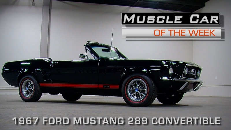 Muscle Car Of The Week Video Episode 162 Triple Black 1967 Ford Mustang GT K Code Convertible