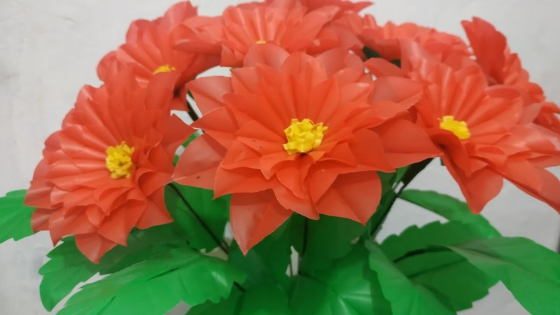 Cara Membuat Bunga Dahlia Dari Plastik Kresek