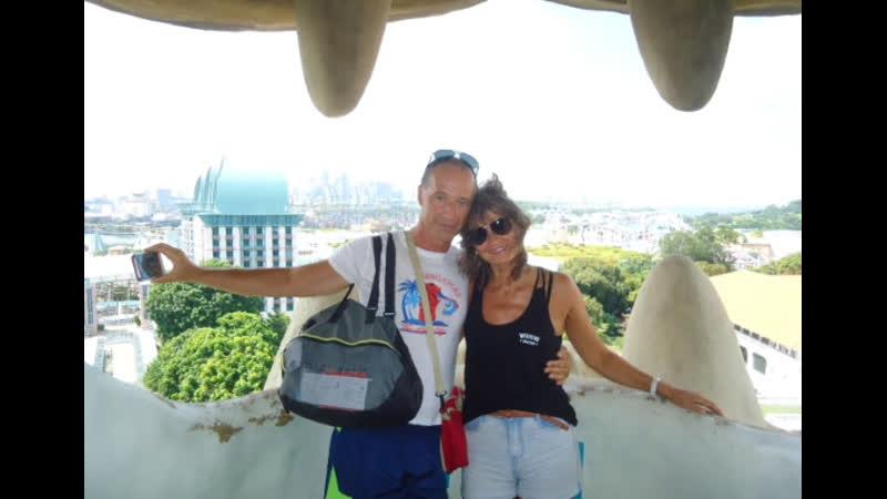 Сингапур Сентоза Смотровые площадки башни Мерлиона Merlion Tower