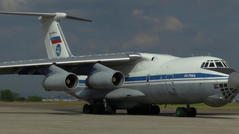 Отправка специалистов сводного отряда Минобороны России в Италии на родину на аэродроме Виллафранка