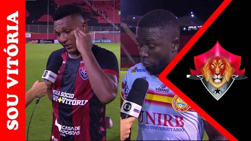 Confira o que Eron e Kanu falaram após empate entre Vitória 2 x 2 Juazeirense