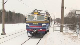 Электропоезд ЭР2-1293/1294 на о.п. Падула / ER2-1293/1294 EMU at Padula stop