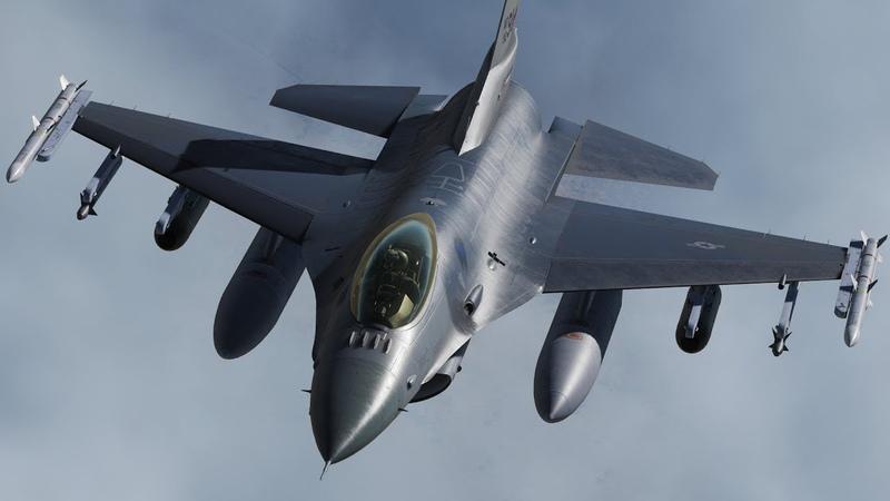 Аварийная посадка самолета F-16C в аэропорту Беслан