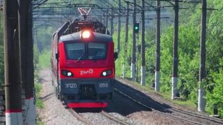 Электровоз ЭП20-069 с поездом№738А Брянск-Москва перегон Балабаново-Ворсино